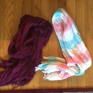 2 aerie scarves